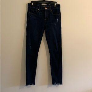 LOFT modern skinny ankle jeans 26 raw hem